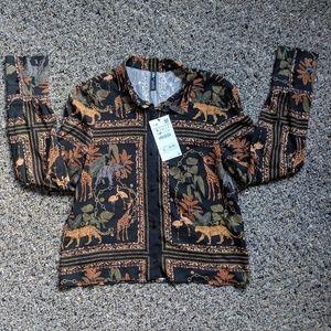 NWT Zara Animal Print Blouse